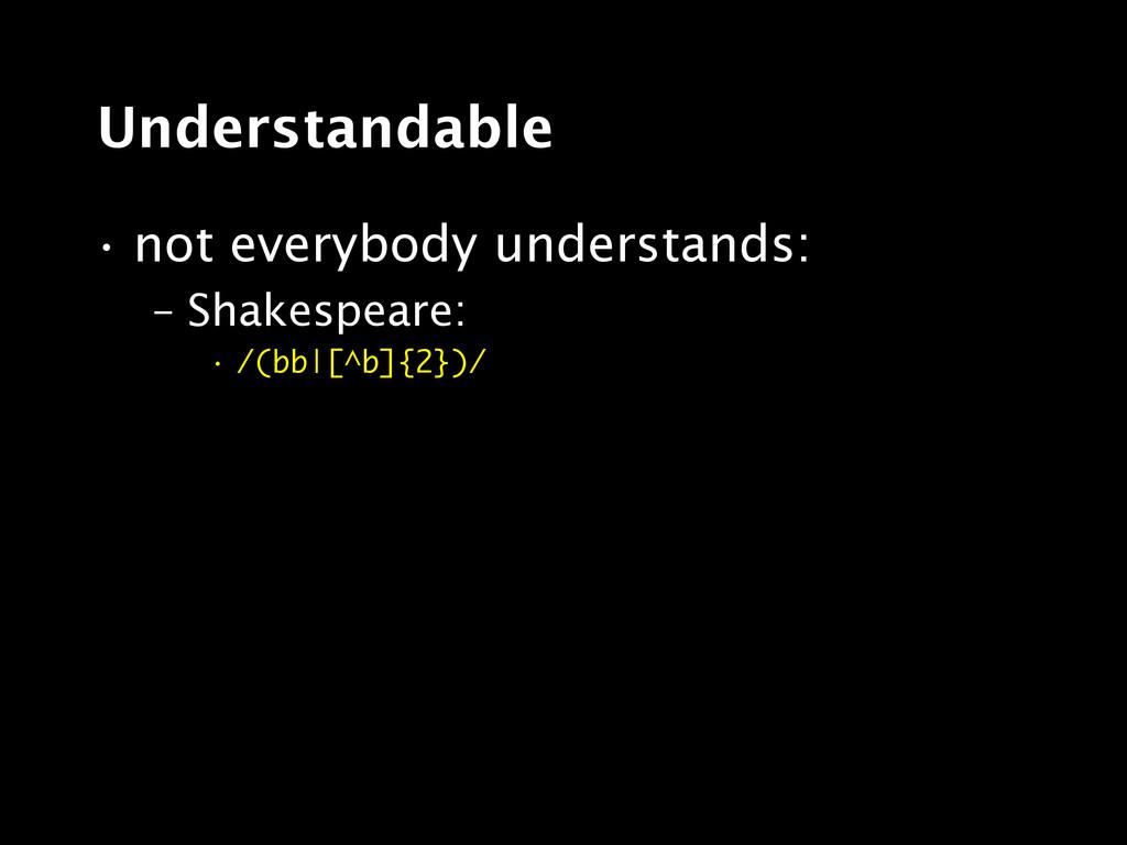 Understandable • not everybody understands: – S...