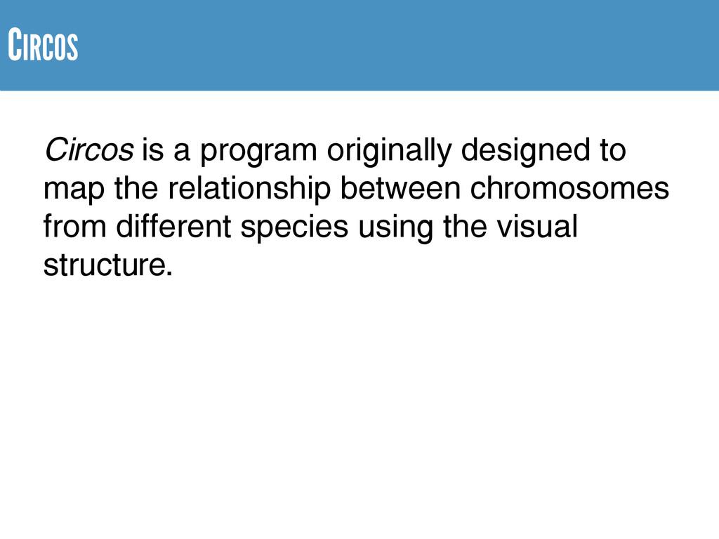 Circos is a program originally designed to map ...