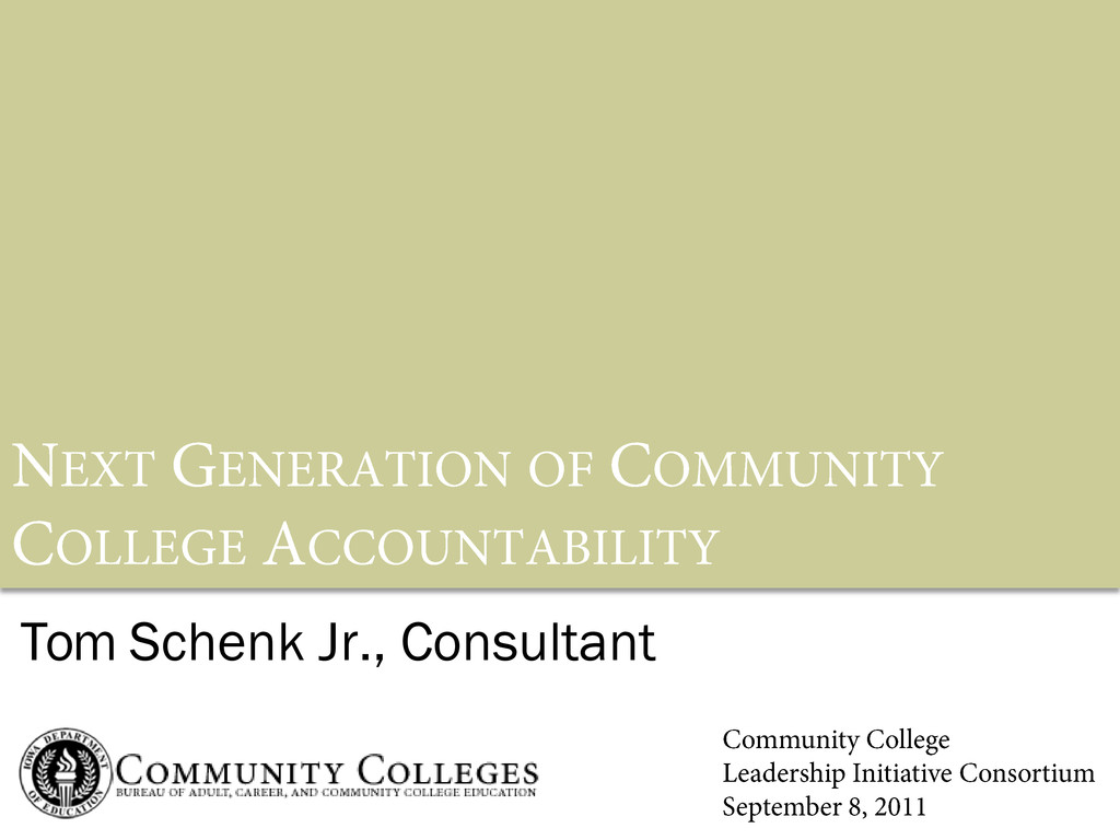 Tom Schenk Jr., Consultant