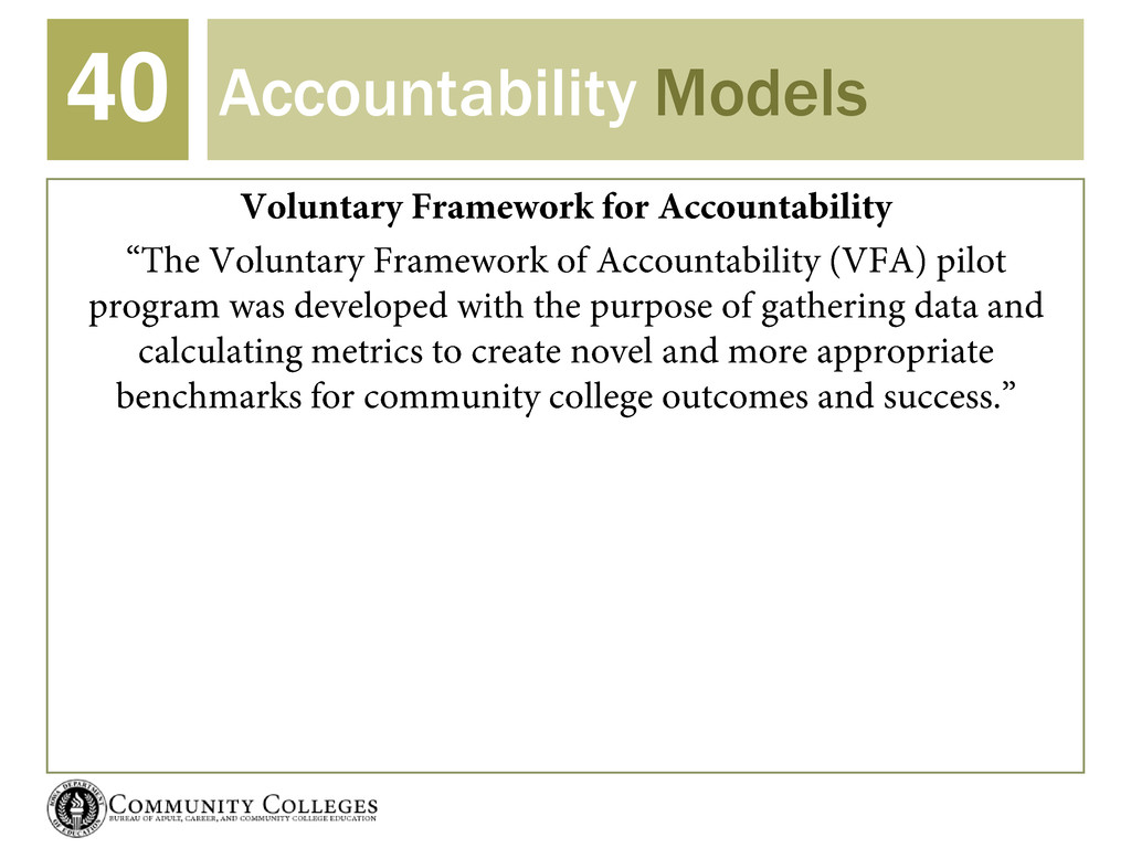Accountability Models 40