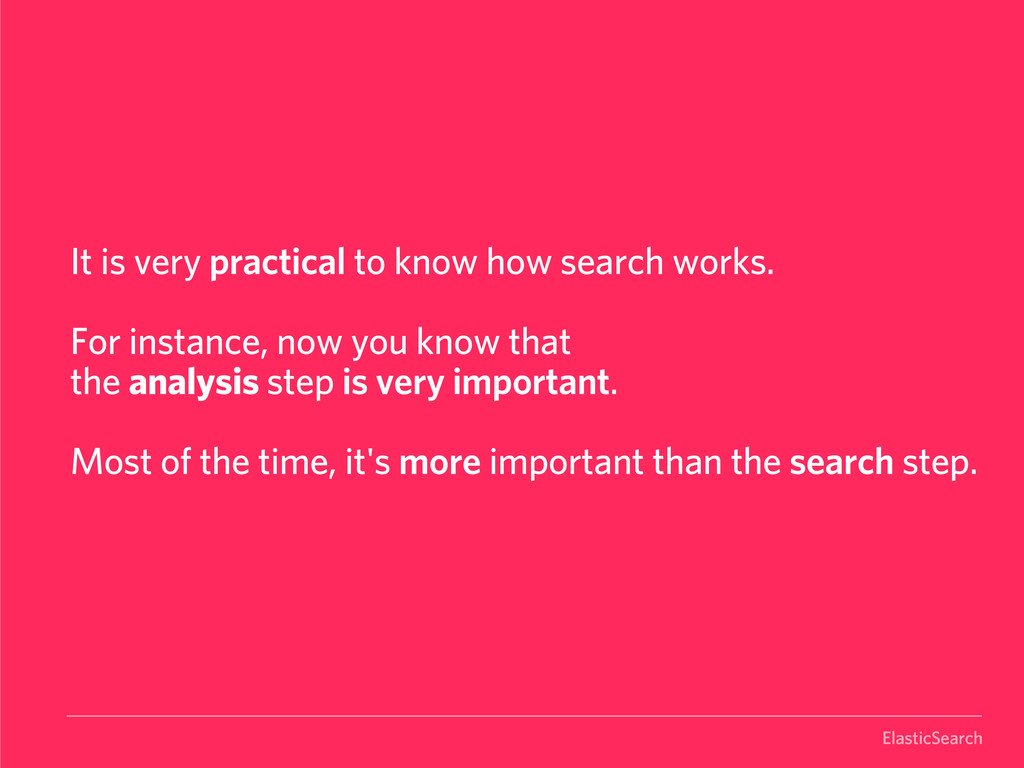 ElasticSearch It is very practical to know how ...