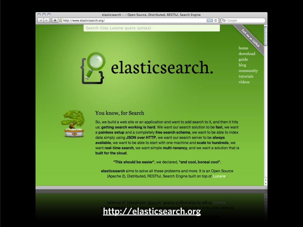 http://elasticsearch.org