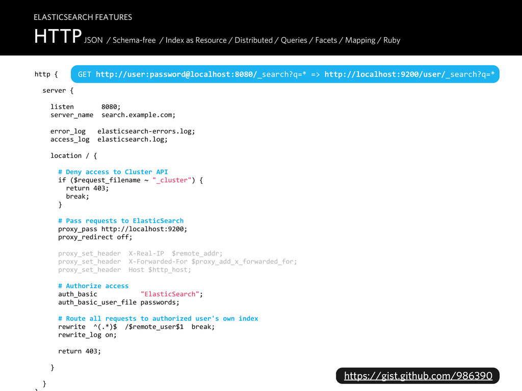 HTTP JSON / Schema-free / Index as Resource / D...
