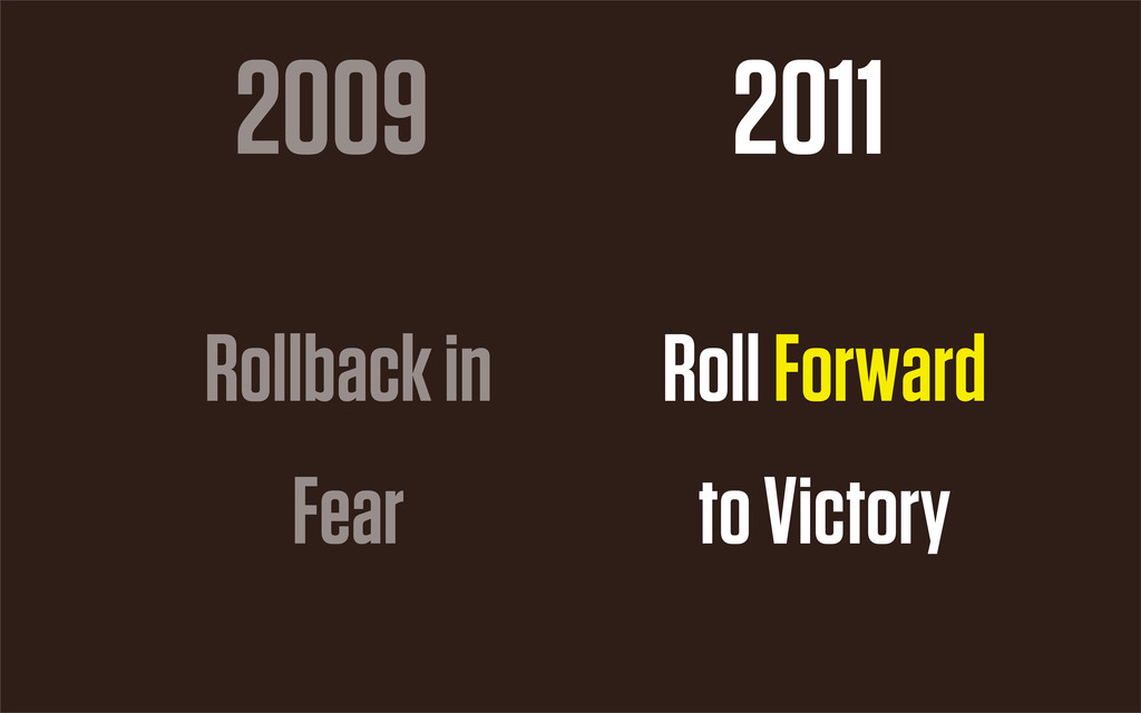 2009 2011 Rollback in Fear Roll Forward to Vict...