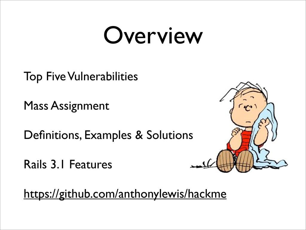 Overview Top Five Vulnerabilities Mass Assignme...