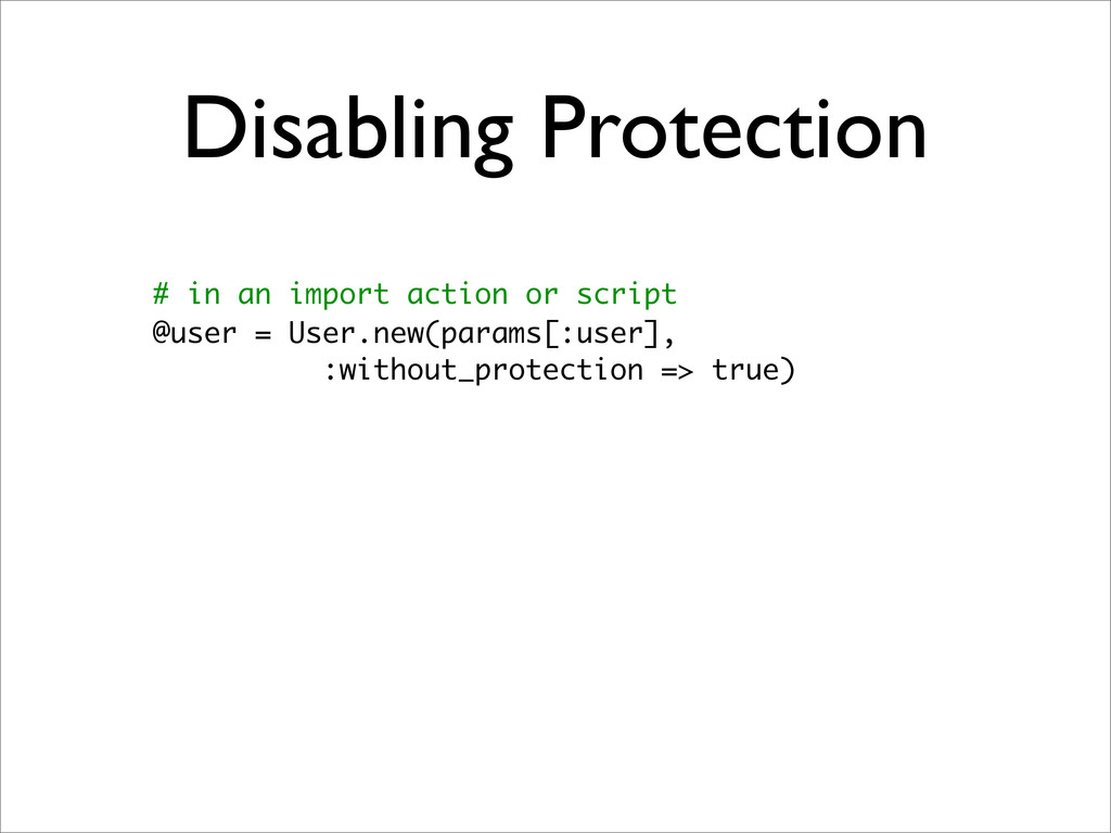 Disabling Protection # in an import action or s...