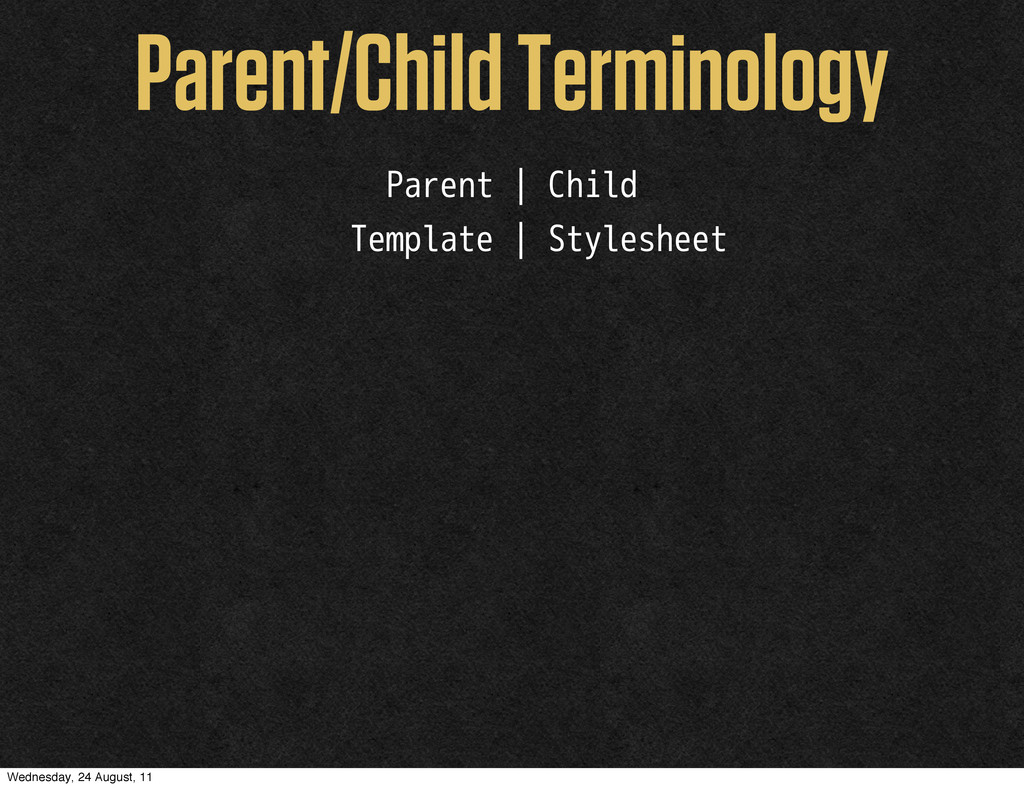 Parent/Child Terminology Parent | Child Templat...