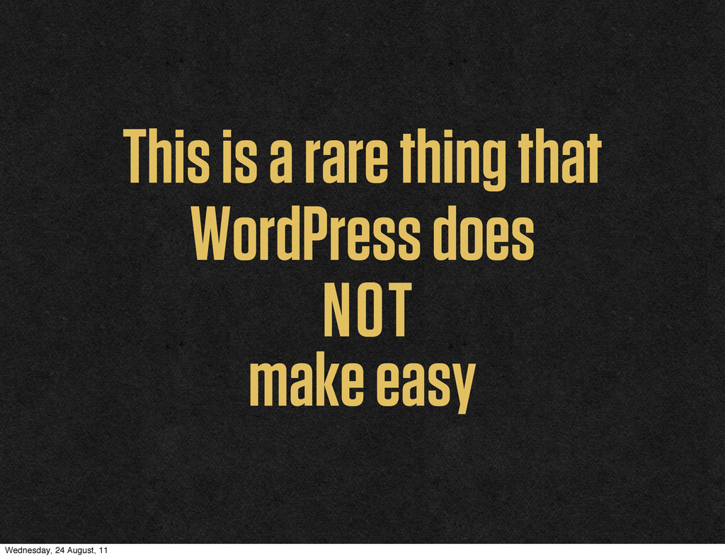This is a rare thing that WordPress does NOT ma...
