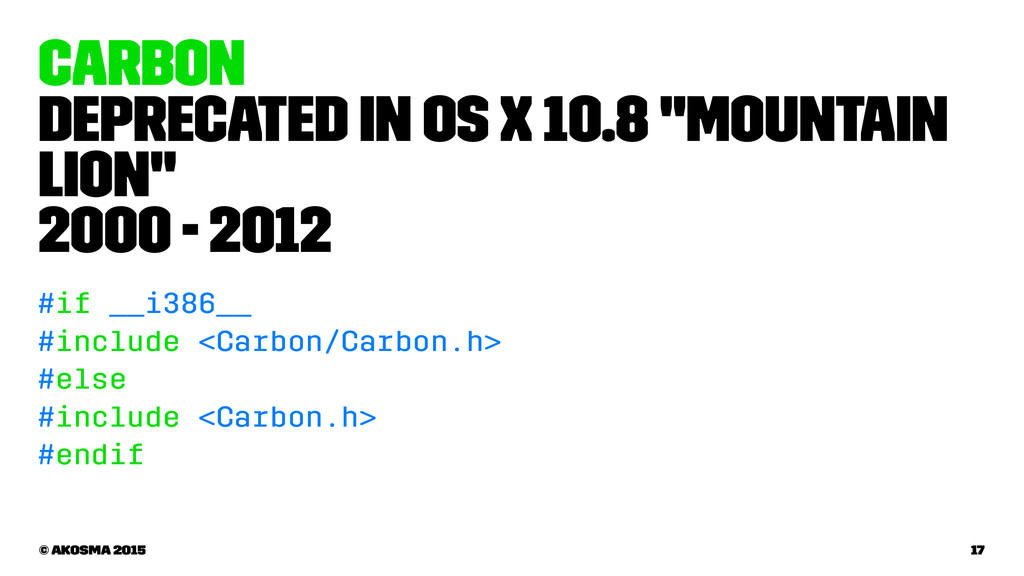 "Carbon Deprecated in OS X 10.8 ""Mountain Lion"" ..."