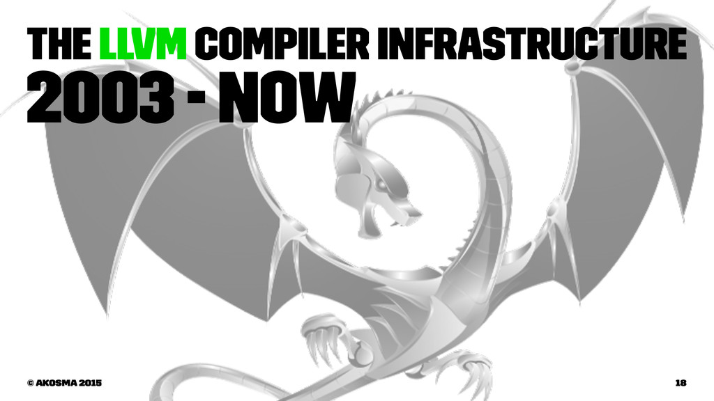The LLVM Compiler Infrastructure 2003 - now © a...