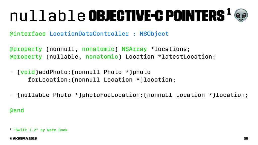 nullable Objective-C Pointers 1 ! @interface Lo...