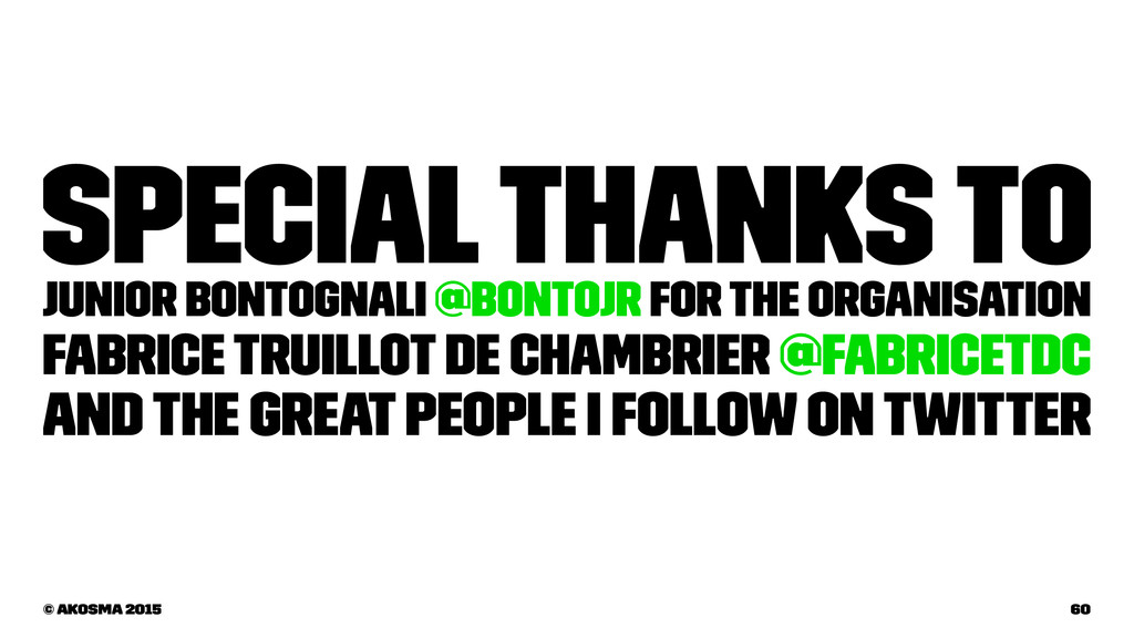 Special thanks to Junior Bontognali @bontojr fo...