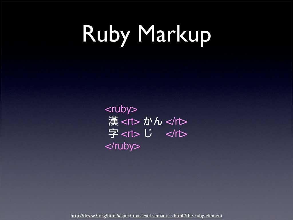 Ruby Markup <ruby> ဏ <rt> 㗋㘓 </rt> ο <rt> 㗘c </...
