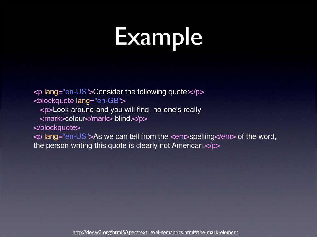 """Example <p lang=""""en-US"""">Consider the following ..."""