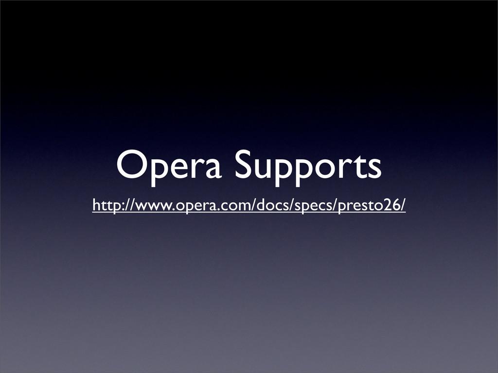 Opera Supports http://www.opera.com/docs/specs/...