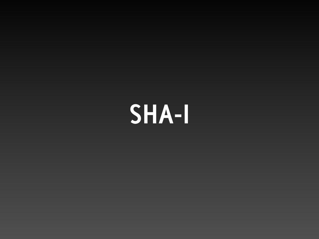 SHA-I