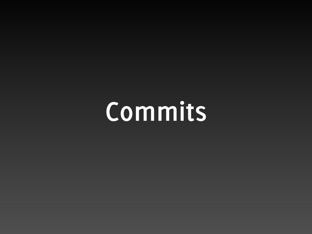 Commits