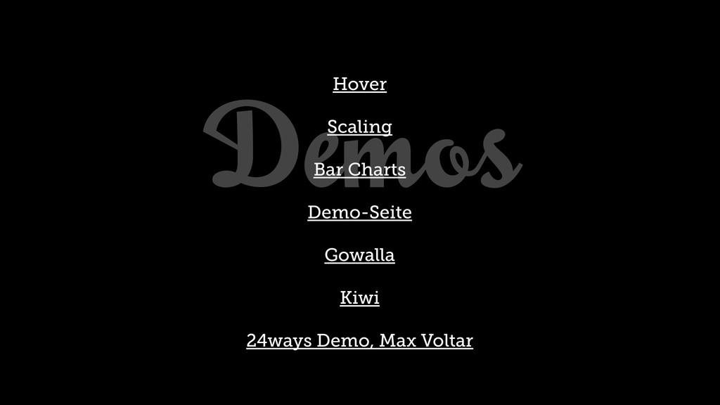 Demos Hover Scaling Bar Charts Demo-Seite Gowal...