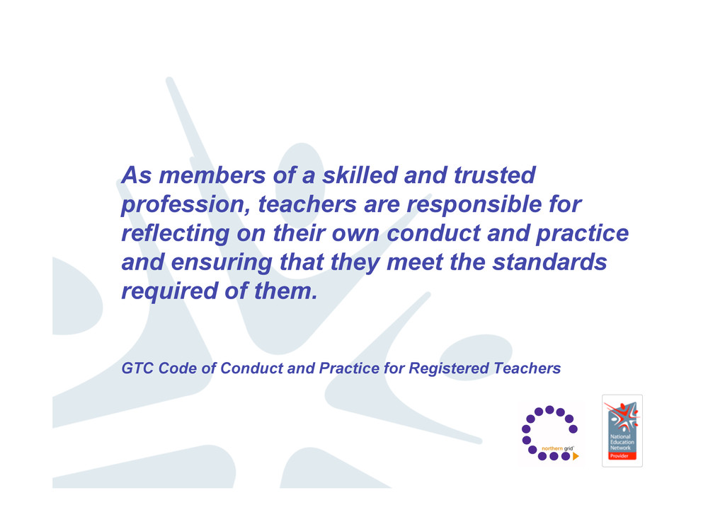As members of a skilled and trusted profession,...