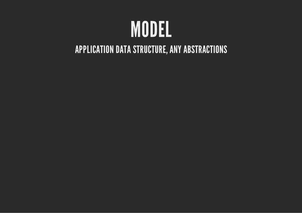 MODEL APPLICATION DATA STRUCTURE, ANY ABSTRACTI...