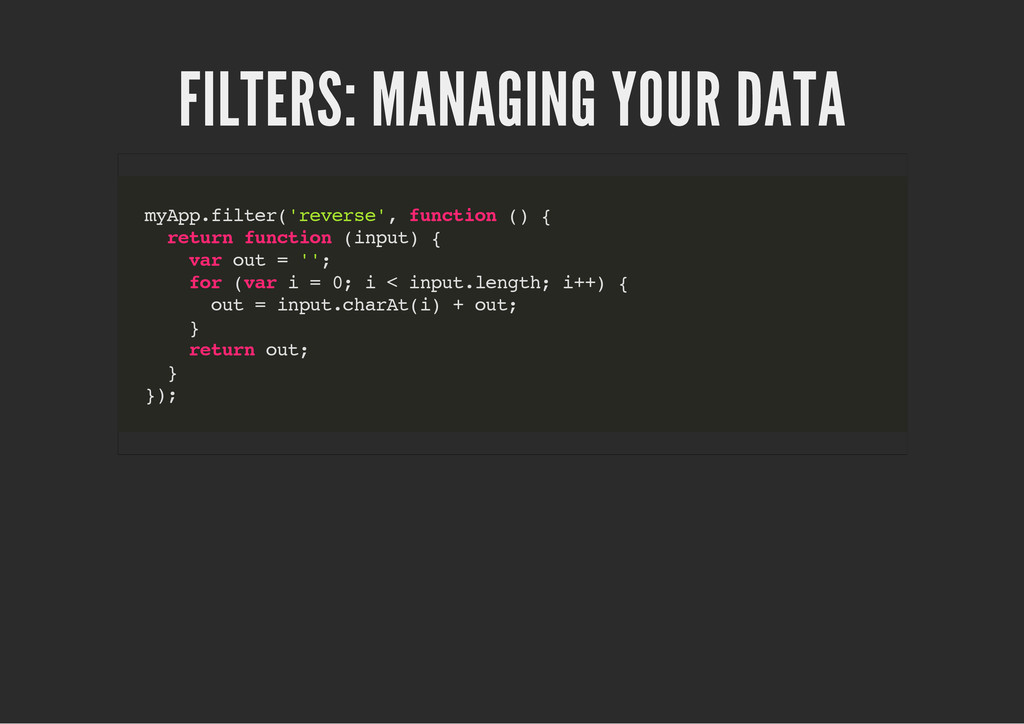 FILTERS: MANAGING YOUR DATA m y A p p . f i l t...