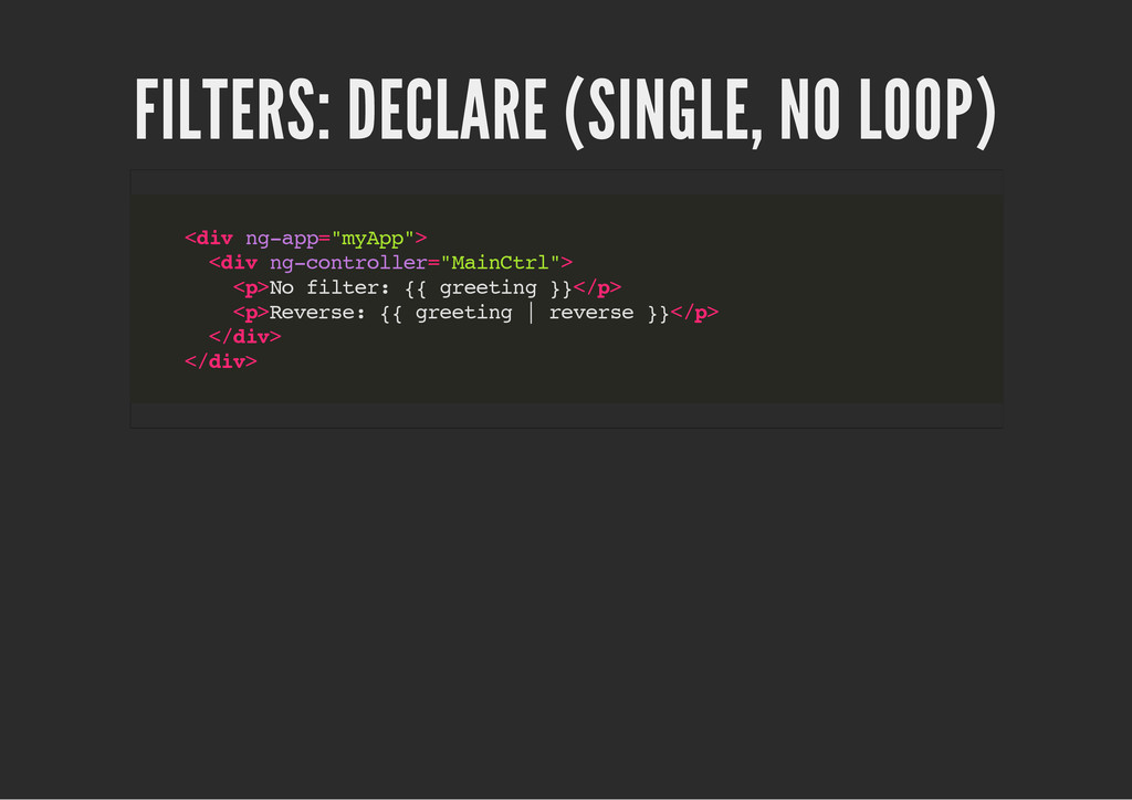 FILTERS: DECLARE (SINGLE, NO LOOP) < d i v n g ...