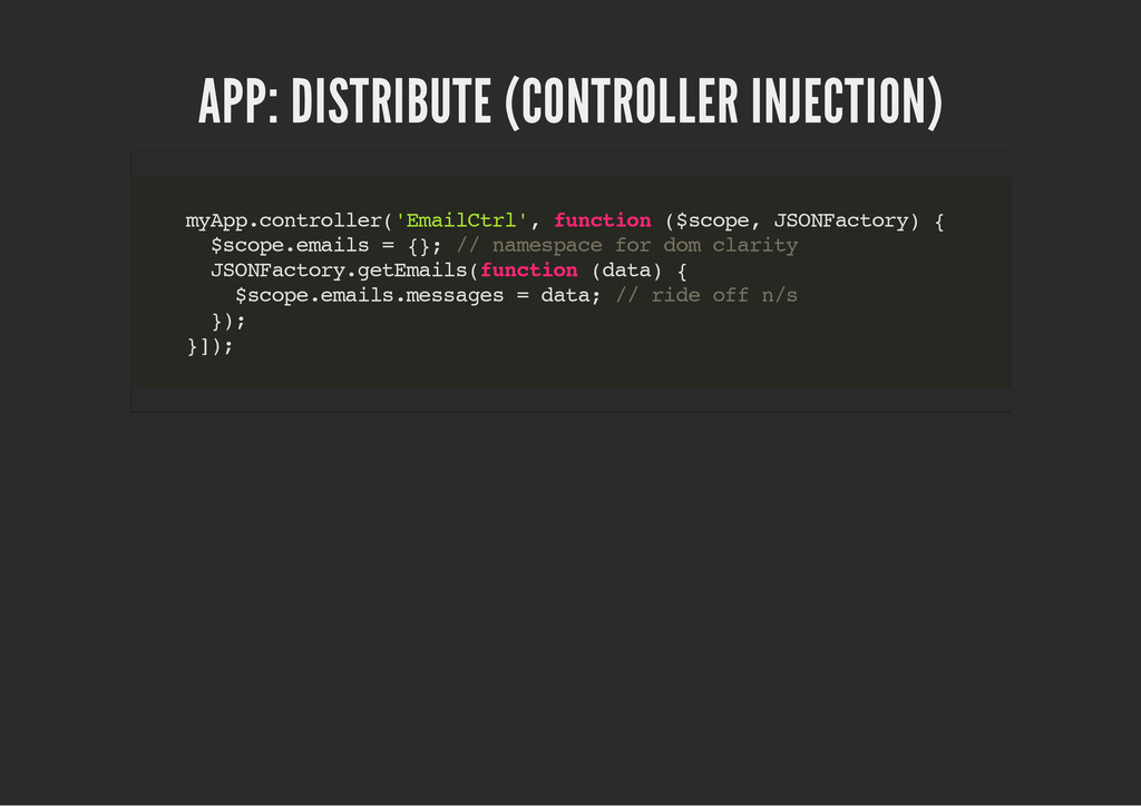 APP: DISTRIBUTE (CONTROLLER INJECTION) m y A p ...