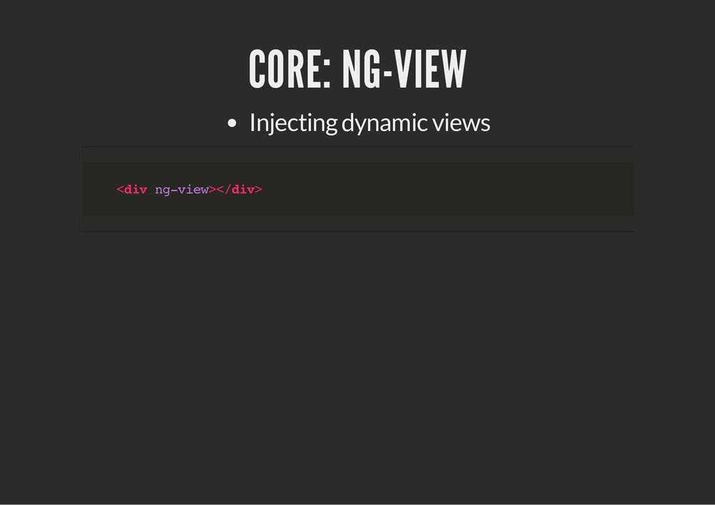 CORE: NG-VIEW Injecting dynamic views < d i v n...
