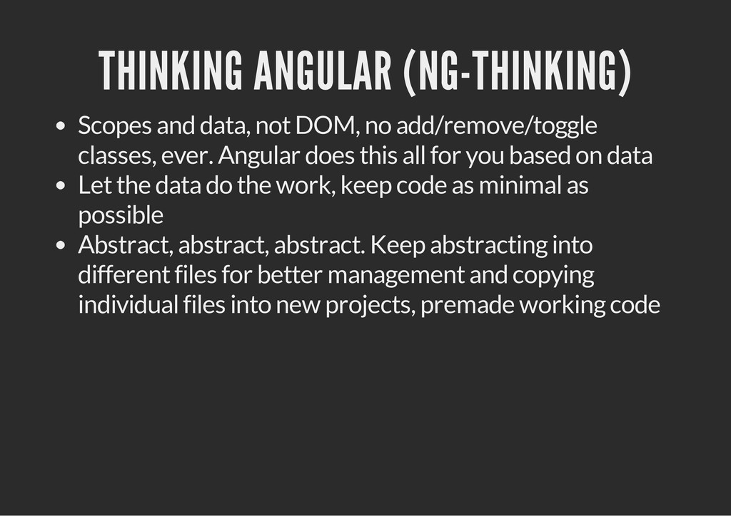 THINKING ANGULAR (NG-THINKING) Scopes and data,...