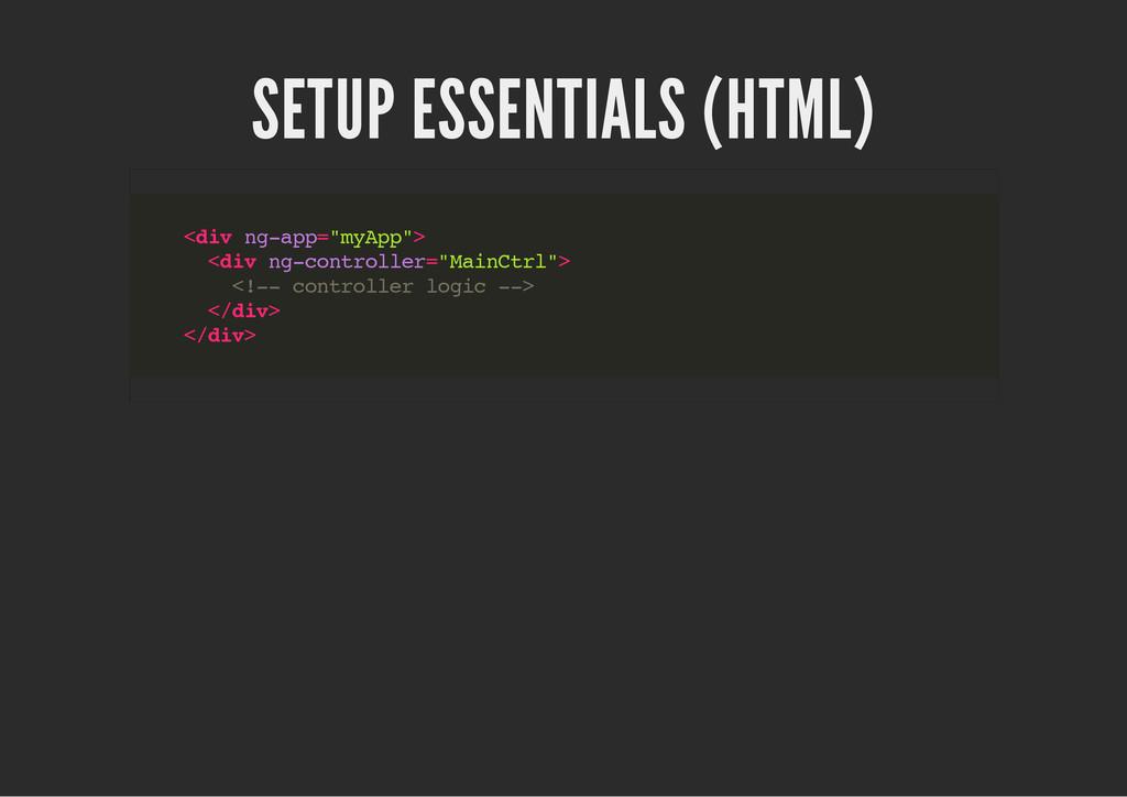 """SETUP ESSENTIALS (HTML) < d i v n g - a p p = """"..."""