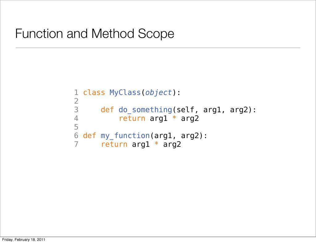 Function and Method Scope 1 class MyClass(objec...