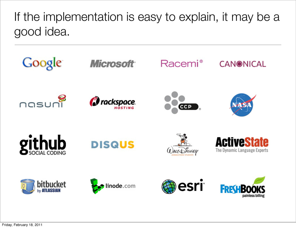If the implementation is easy to explain, it ma...