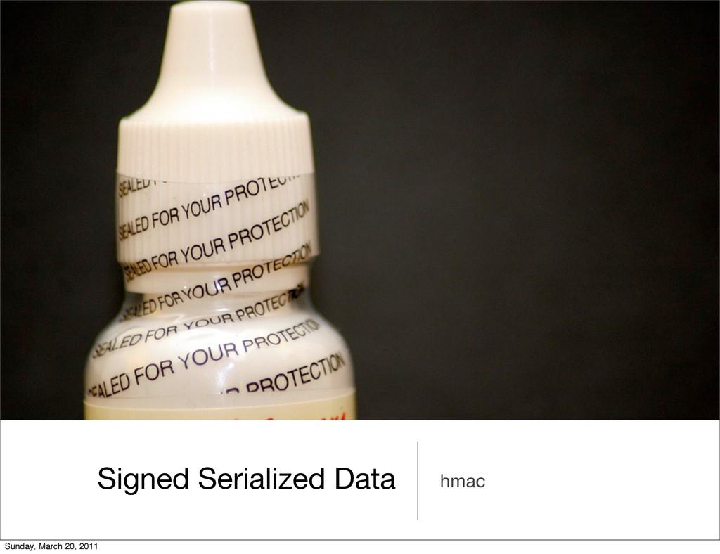 Signed Serialized Data hmac Sunday, March 20, 2...