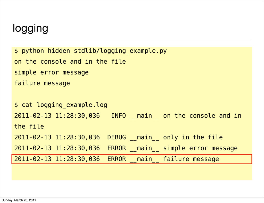 logging $ python hidden_stdlib/logging_example....
