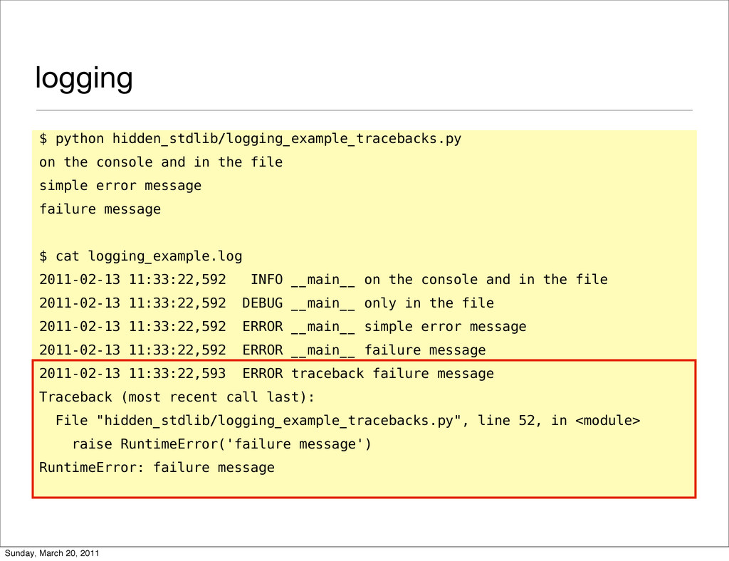 logging $ python hidden_stdlib/logging_example_...