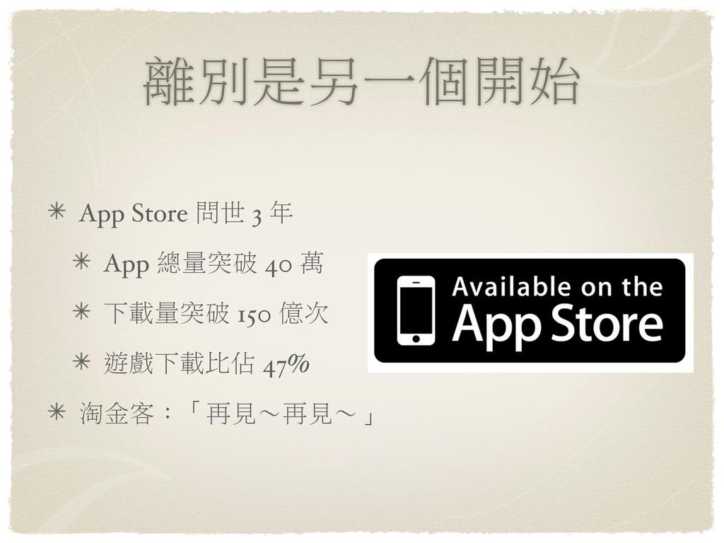ᕎй̤݊ɓࡈක App Store ਪ˰ 3 ϋ App ᐼඎ߉ॎ 40 ຬ ɨ༱ඎ߉ॎ 1...