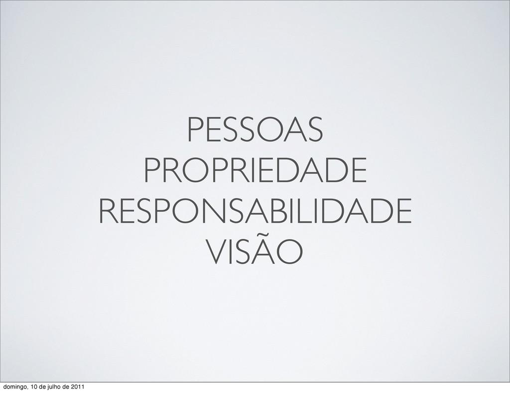 PESSOAS PROPRIEDADE RESPONSABILIDADE VISÃO domi...