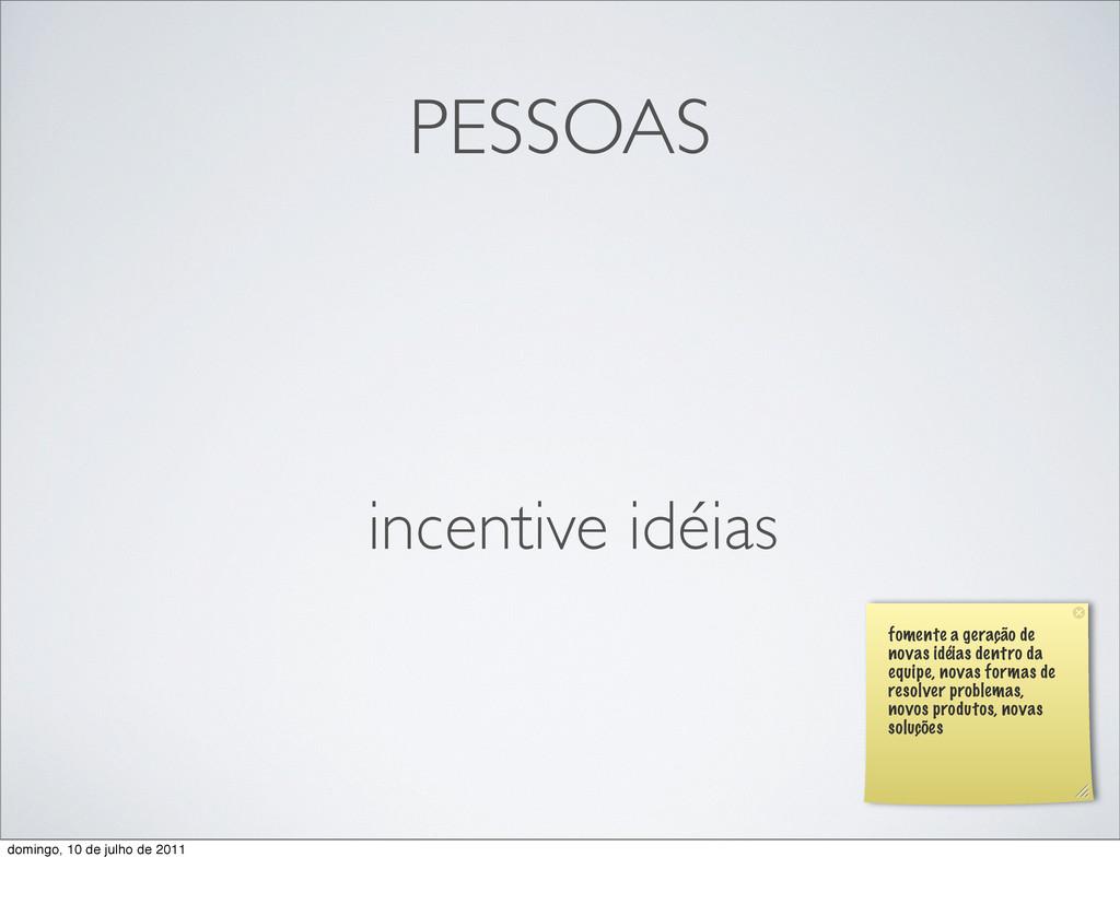 PESSOAS incentive idéias fomente a geração de n...