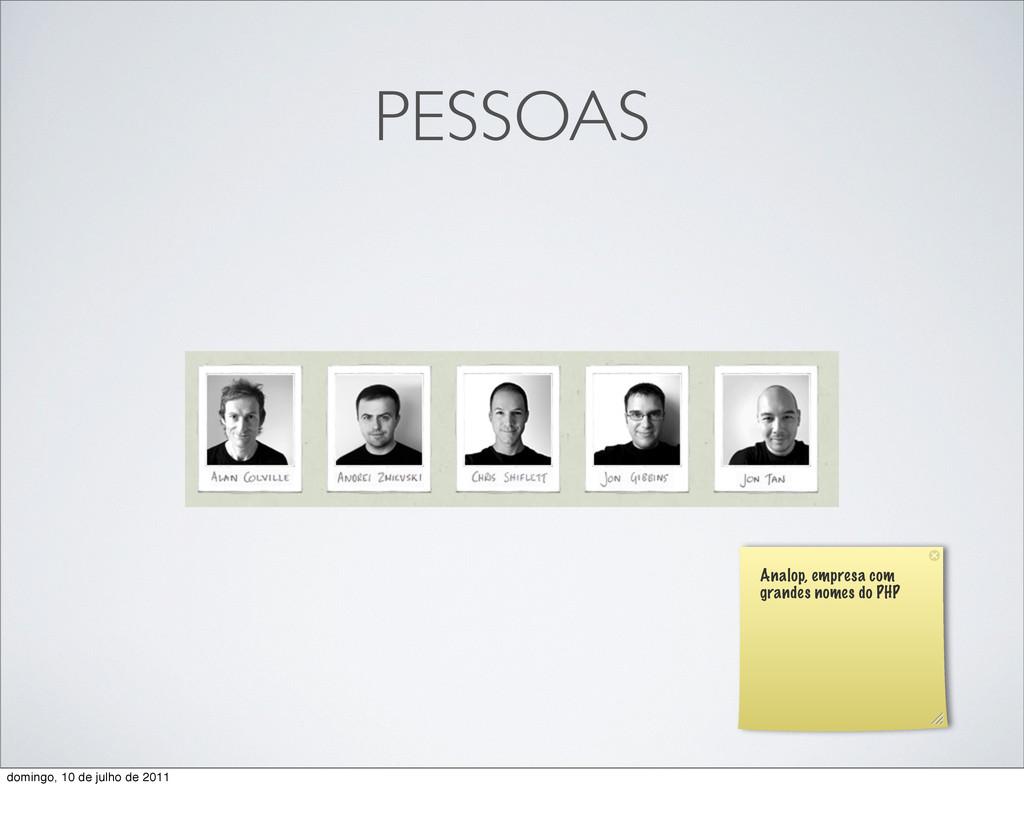 PESSOAS Analop, empresa com grandes nomes do PH...