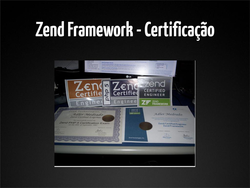 Zend Framework - Certificação