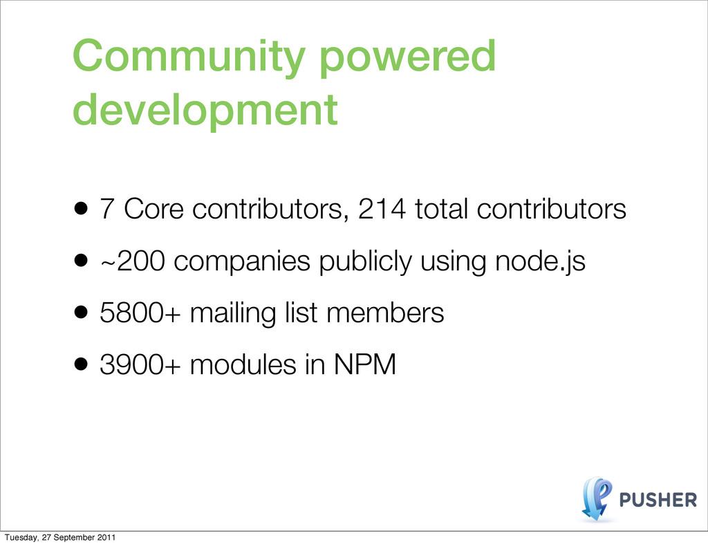 • 7 Core contributors, 214 total contributors •...