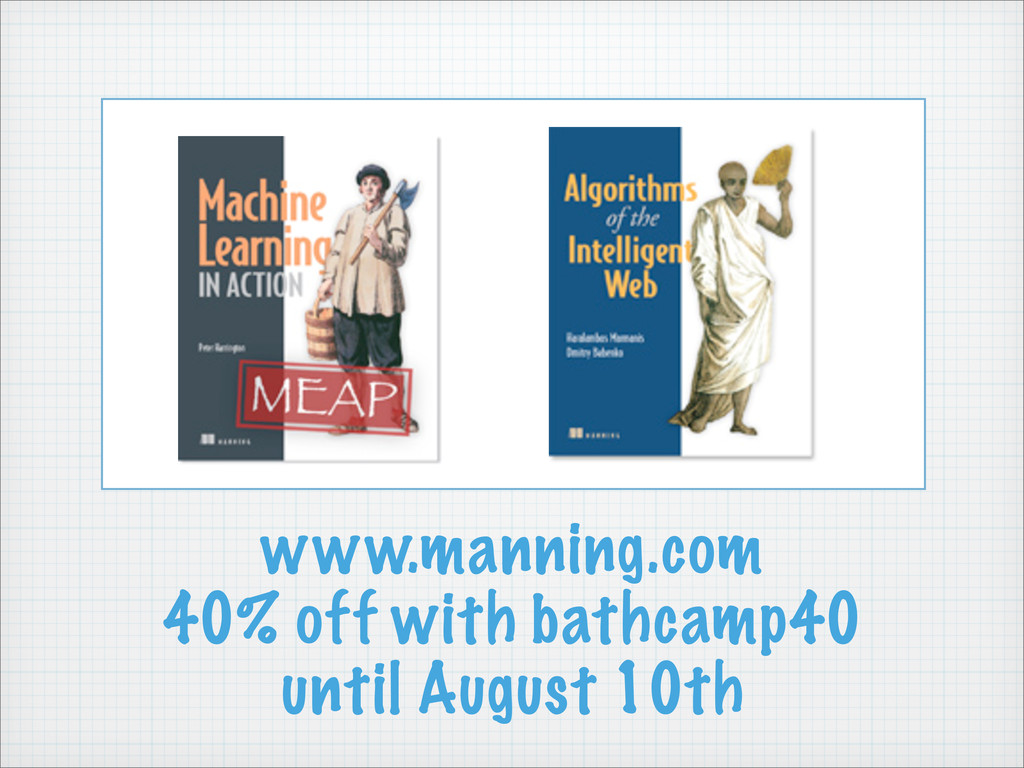 www.manning.com 40% off with bathcamp40 until A...