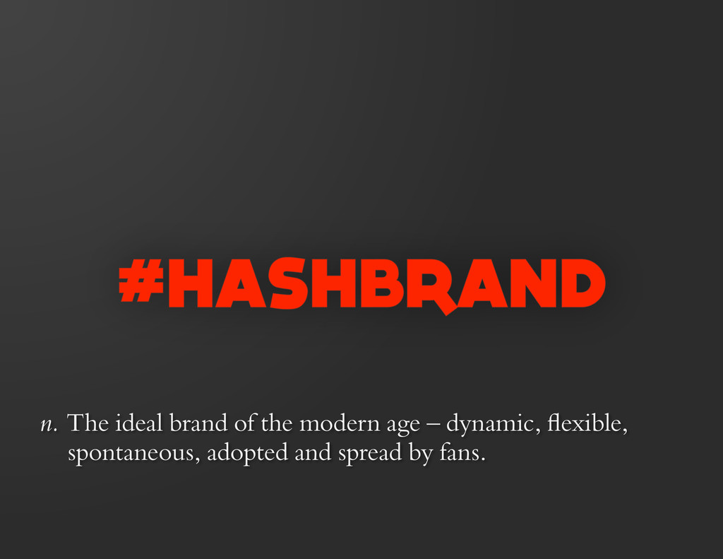 n. The ideal brand of the modern age – dynamic,...