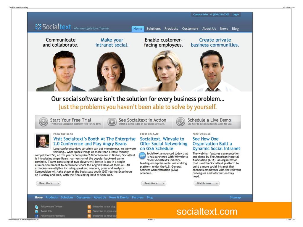 socialtext.com The Future of Learning nickfloro...