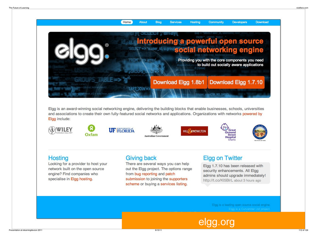 elgg.org The Future of Learning nickfloro.com P...