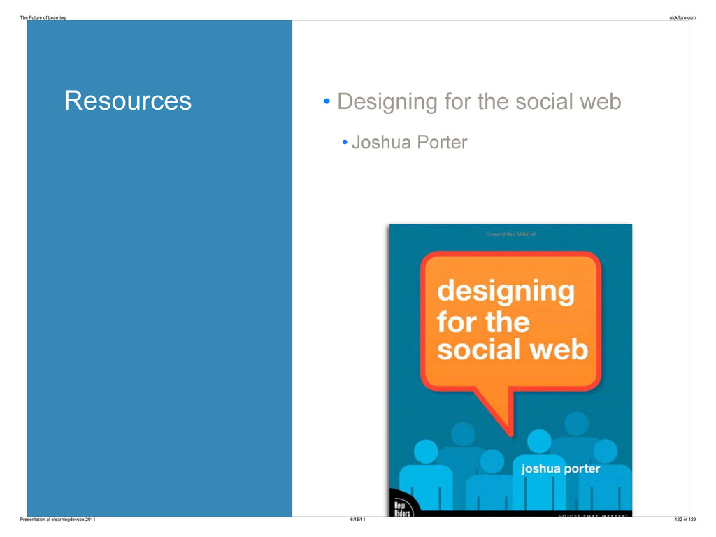 Resources • Designing for the social web • Josh...