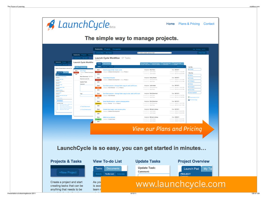 www.launchcycle.com The Future of Learning nick...