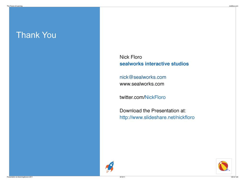 Thank You Nick Floro sealworks interactive stud...