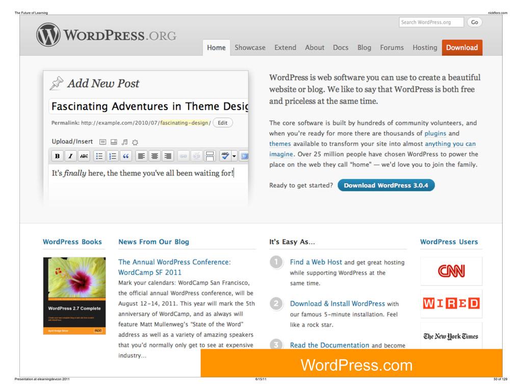 WordPress.com The Future of Learning nickfloro....