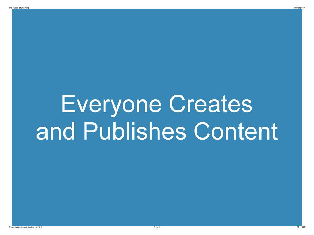 Everyone Creates and Publishes Content The Futu...